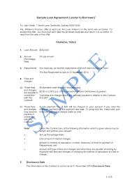 Loan Contract Sample Loan Agreement Lender To Borrower Sample LawPath 10