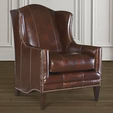 leather accent chair  flemming  bassett furniture