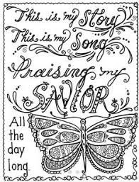 hymn spiration 4 coloring pages instant dowload by chubbymermaid