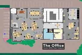 the office floor plan. Floor Plans Famous Tv And Movie Businesses Bizdaq The Office Plan S