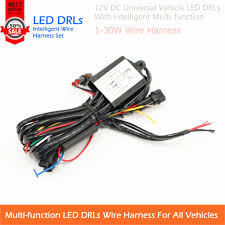 high quality wiring harness controller buy cheap wiring harness shipping 12v vehicle led drls universal use wire harness multi function plug