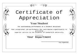 Formal Certificates Free Certificate Of Appreciation Printable Formal Templates Download