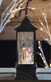 Lighted Snowman Snow Globe 11 Inch Snowmen Lighted Snow Globe With Swirling Glitter