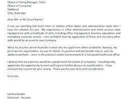 Office Administration Cover Letters Cover Letter For Office Job Bitacorita