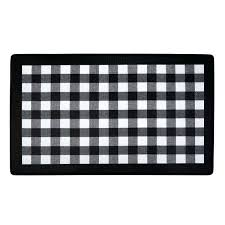black white kitchen rug buffalo check anti fatigue kitchen rug black and white chevron kitchen rug