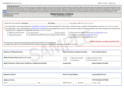 cdl self certification and cal examiner certificates