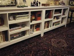 Threshold Horizontal bookshelves from Target - two units, side by side. For  base of