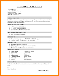 7 Template Of A Curriculum Vitae Phoenix Officeaz