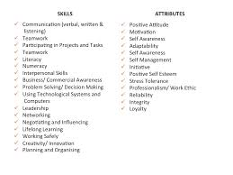 resume attributes the difference between skills and attributes employability