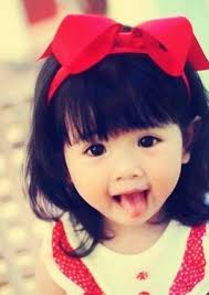 Cute asian baby girl