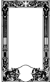 picture frames black and white drawing