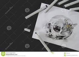 эскиз татуировки черепа стоковое изображение изображение