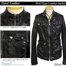 leatherette jacket m65 leather jacket genuine leather lamb leather men military black m l
