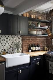 Kitchen Island Centerpiece A Kitchen Island With A Dark Wooden Countertop Is The Ultimate