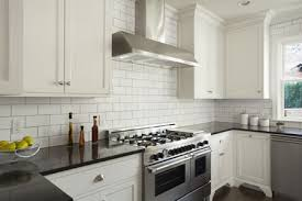 Image Grey Subway Modern Kitchen With White Subway Tile The Spruce How Subway Tile Can Effectively Work In Modern Rooms