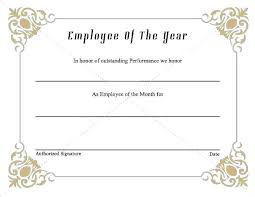Best Performance Award Certificate Best Employee Award Template Download Now Of The Year
