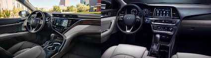 2018 hyundai sonata interior. plain 2018 2018 toyota camry vs hyundai sonata interior comparison in st louis  mo in hyundai sonata interior
