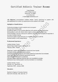 Stunning Athletic Trainer Resume Cover Letter In Athletic Trainer