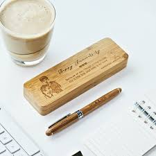 looking for best personalized gifts for your man this personalized bamboo pen set from nsj