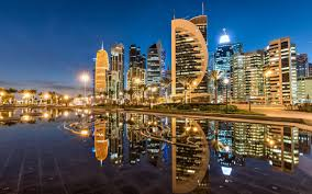Dubai Lights Doha Qatar Wallpaper Doha Qatar Sheraton Park Skyscrapers City