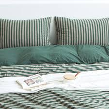 MUJI style Striped Bedding Set (SS, Q, K), Home & Furniture, Furniture,  Mattresses & Bed Frames on Carousell