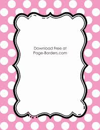 girly borders for microsoft word free polka dot border templates in 16 colors