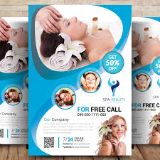 Spa Brochure Template Enchanting SPA Center Psd Flyer Templates Peoplepng SPA Center Psd Flyer