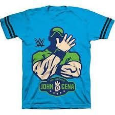 Details About Boys Wrestling Tv Show Wwe John Cena Striped Sleeve Hustle Loyalty T Shirt Tee