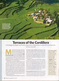 updates from the project heirloomrice s blog terraces of the cordillera ngt 2009 issue