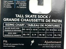 Bauer Core Performance Tall Ice Hockey Skate Sock Black 1042848 Small