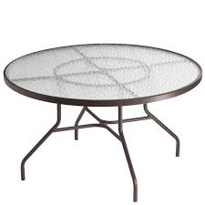 tropitone 48 inch round dining umbrella table