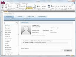 Microsoft Office Access Use The Contacts Web Database Template
