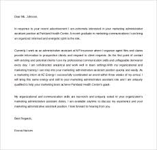 Marketing Administrative Assistant Cover Letter Sample