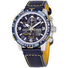 citizen promaster skyhawk a t blue dial leather strap men s watch jy8078 01l com