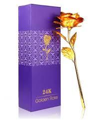 gift novelties rose artificial stems gold pack