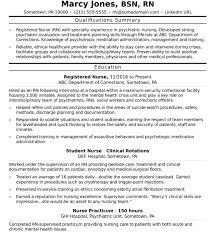 Registered Nurse Curriculum Vitae Sample Creative Ideas Sample Nursing Resume Impressive Decoration
