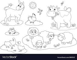 Animal Coloring Coloring Farm Animals