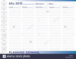 2015 Weekly Planner Spanish Calendar For Year 2015 Week Starts On