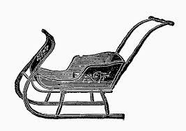 free digital image transfer of vintage wooden child s sled