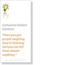 informative speech topics portal herbert gardner cartoonist guarantees information communication by laughing