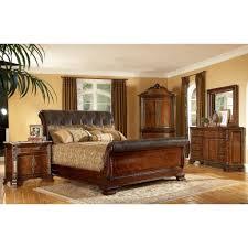 Old World Style Bedroom Furniture Leather Bedroom Set Marceladickcom