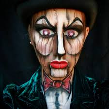 wooden ventriloquist creepy doll makeup tutorial