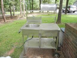 portable outdoor sink cart