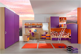 bedroom designs for girls with bunk beds.  Beds Awesome Bedroom With Purple Bunk Beds For Girls And Wooden Computer Desk  Near Swivel Chair In Designs For With G