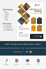 Flyer Formats Saif Corporate Business Flyer Corporate Identity Template