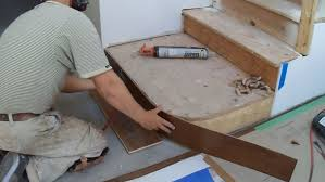how to install hardwood stairs curved stairs riser installation mryoucandoityourself you