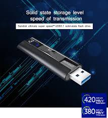 Sandisk Usb 3 1 Usb Flash Drive 128gb Extreme Pro Pen Drive 256gb Flash Memory Stick Cz880 Usb Key U Disk 420mb S For Pc