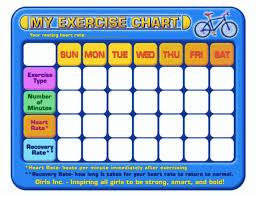 Daily Workout Chart Fitness Guru