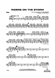 drums sheet music riders on the storm drums the doors digital sheet music gustaf