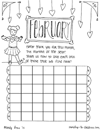 February Coloring Pages For Kids With February Coloring Page